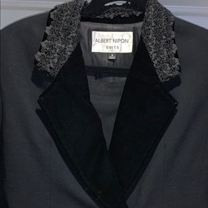Albert Nipon vintage black wool suit